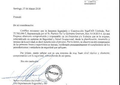 Certificado Nelson Fernández
