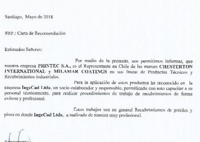 Certificado Printec