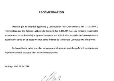 Certificado de Rafael Diaz